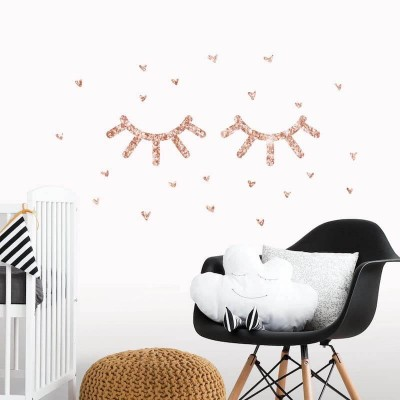 RoomMates Eyelash Peel and Stick Wall Decals with Glitter - RMK3630SCS