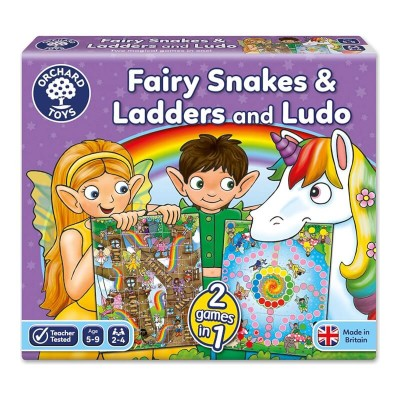 Orchard Toys Fairy Snakes & Ladders & Ludo Board Game