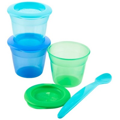 Tommee Tippee Food Pots with Lids (3-Pack) 4m+