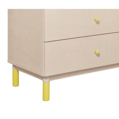 Babyletto Gelato Crib and Dresser Feet Pack - Spring Yellow