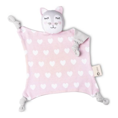 Kippins Cuddle Blanket - Kitty (Organic, 29x29cm)