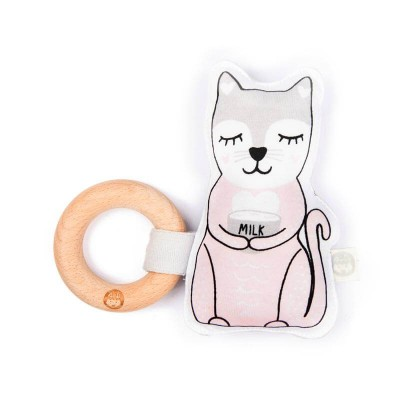 Kippins Kiplet Baby Rattle - Kitty
