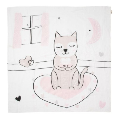 Kippins Muslin Wrap - Kitty (Organic, 120x120cm)