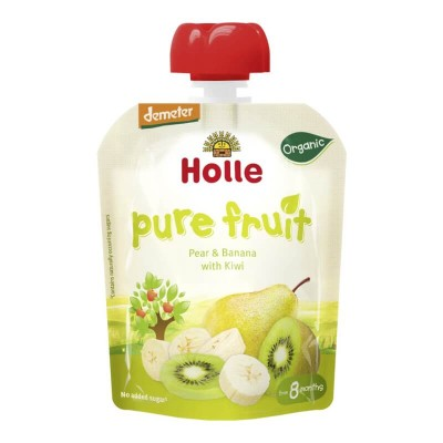 Holle Organic Pear & Banana with Kiwi Pouch 90g (8 mos+)
