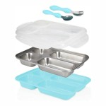 Nuby Insulated Stainless Steel Lunchbox with Fork & Spoon - Blue