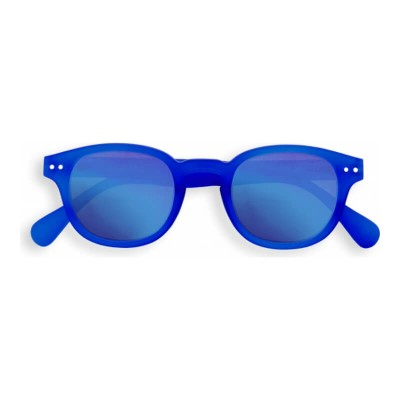 IZIPIZI SUN Junior #C King Blue Crystal, Blue Mirrored Lenses (3-10years)