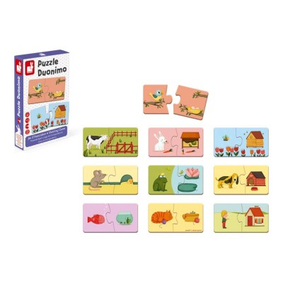 Janod Duonimo 20-Piece Puzzle Matching Game