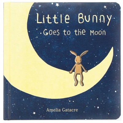 Jellycat Little Bunny Goes To The Moon Book 19cm