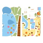 RoomMates Jungle Animal New Baby Peel and Stick Giant Wall Decals
