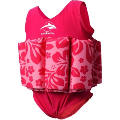 Konfidence Floatsuit - Fuchsia (Pink Hibiscus) - 1-2 Years