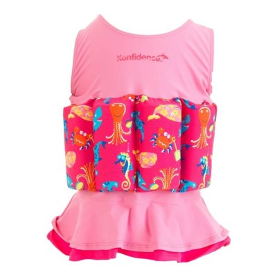 Konfidence Floatsuit - Sea Friends Pink - 1-2 Years