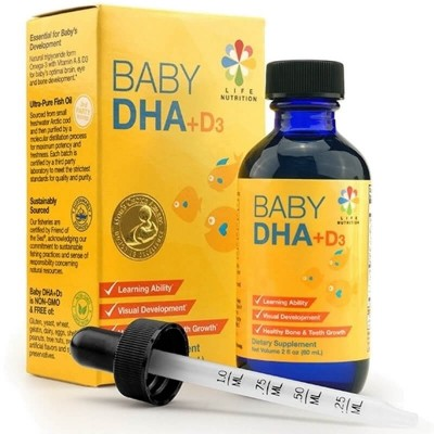 Life Nutrition Baby DHA + D3 Drops 60ml