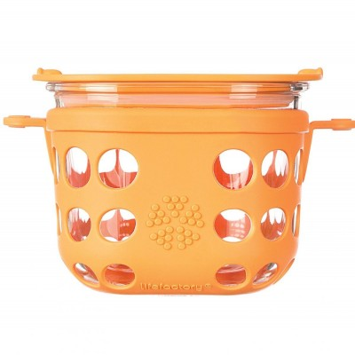 Lifefactory Glass Food Storage 475ml - Orange