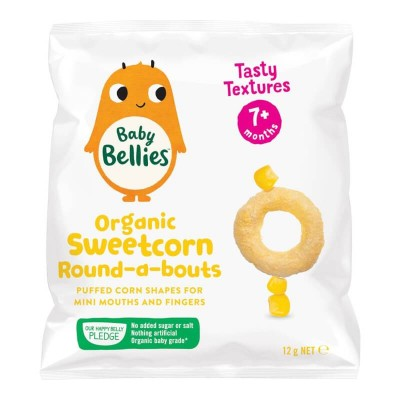 Little Bellies (Baby Bellies) Organic Sweetcorn Round-a-Bouts 12g (7 mos+)