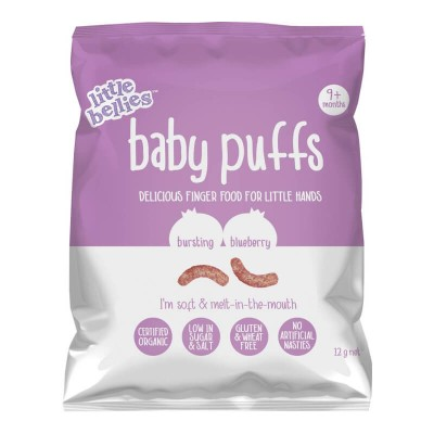 Little Bellies Baby Puffs 12g Blueberry
