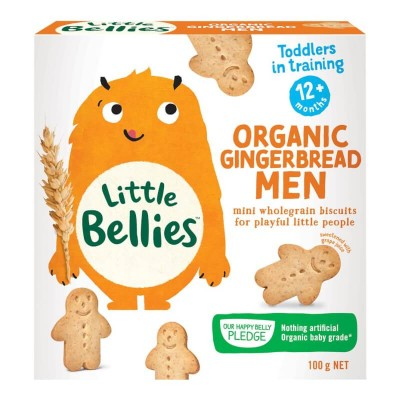 Little Bellies Mini Gingerbread Men 100g (12 mos+)