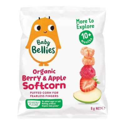 Little Bellies (Baby Bellies) Organic Berry & Apple Softcorn 8g (10 mos+)