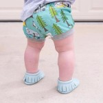 Little Caleb Moccasins - Classic Baby Sky Leather Moccasins - 6-12 mos