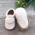 Little Caleb Moccasins - Classic Birch Leather Moccasins - 12-18 mos