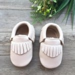Little Caleb Moccasins - Classic Birch Leather Moccasins - 6-12 mos