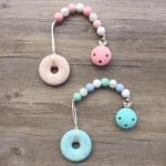 Little Caleb Teether & Pacifier Clip - Donut Teether - Pink