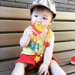 Little Caleb Teether & Pacifier Clip - French Fries Teether - Red