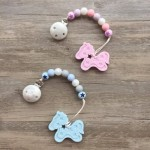 Little Caleb Teether & Pacifier Clip - Pony Teether - Blue