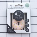 Little Caleb Teething Toy - Donut - Pink, 1-Piece
