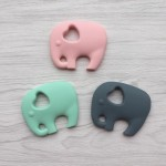 Little Caleb Teething Toy - Elephant - Mint, 1-Piece