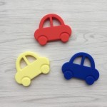 Little Caleb Teething Toy - Mr Bean Car - Red, 1-Piece