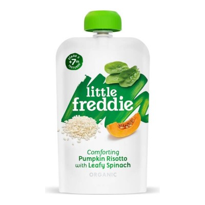 Little Freddie Organic Comforting Pumpkin Risotto with Leafy Spinach 120g (7 mos+)