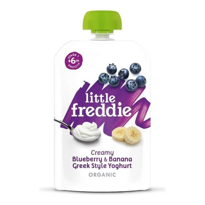 Little Freddie Organic Creamy Blueberry & Banana Greek Style Yoghurt 100g (6 mos+)