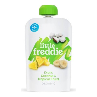 Little Freddie Organic Exotic Coconut & Tropical Fruits 100g (4 mos+)