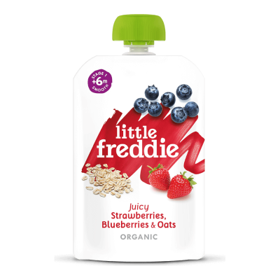 Little Freddie Organic Juicy Strawberries, Blueberries & Oats 100g (6 mos+)