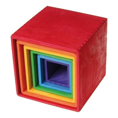 Little Wooden Dragon Large Stacking Boxes Red