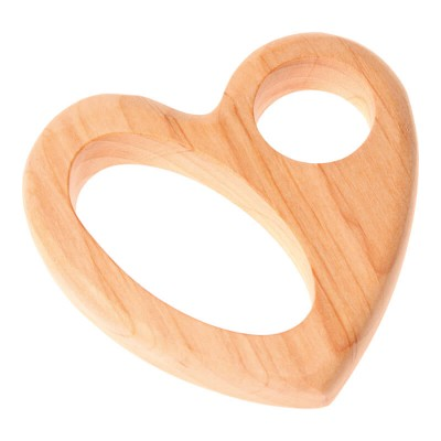 Little Wooden Dragon Rattle - Heart II (8122)