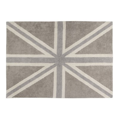 Lorena Canals UK Flag Linen - Grey 140x200cm (Rug)