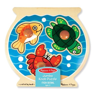 Melissa & Doug Fish Bowl Jumbo Knob - 3 Pieces
