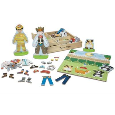 Melissa & Doug Occupations Magnetic Pretend Play Set