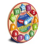 Melissa & Doug Shape Sorting Chunky Clock