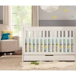 Babyletto Mercer 3-in-1 Convertible Crib with Drawer - White