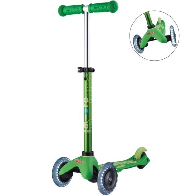 Micro Scooter Mini Micro Deluxe Scooter - Green - LED