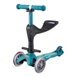 Micro Scooter Mini 3-in-1 Deluxe - Plus Ice Blue (with Push Along Handle)