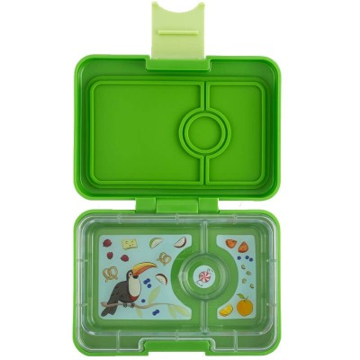 Yumbox MiniSnack - 3 Compartment - Cilantro Green