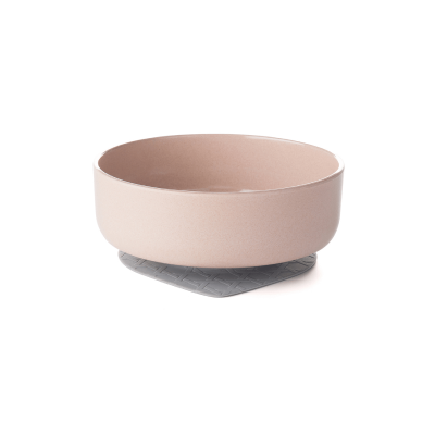 Miniware Snack Bowl with Suction Foot - Sandy Stone