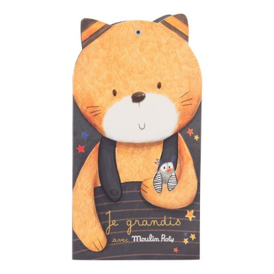 Moulin Roty Les Moustaches Wall Hanging Fold-Up Height Chart 15x138cm