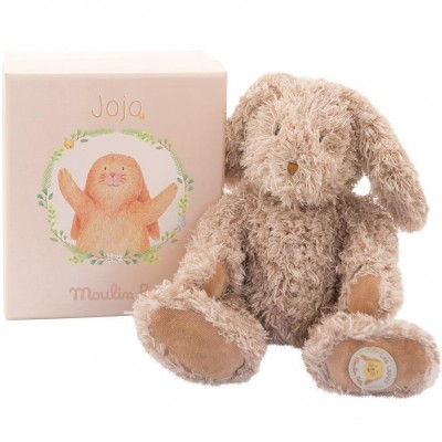 Moulin Roty Vite un Calin Jojo Baby Rabbit in a Box 23cm