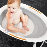 Boon Naked 2-Position Collapsible Baby Bathtub - Grey