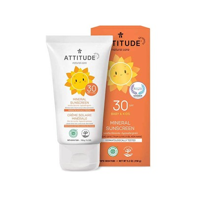 ATTITUDE Natural Care SPF30 Mineral Sunscreen - Vanilla Blossom 150g