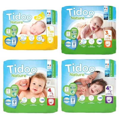 Tidoo Nature Eco-Friendly Nappies (XS, MD, LG, LG+)